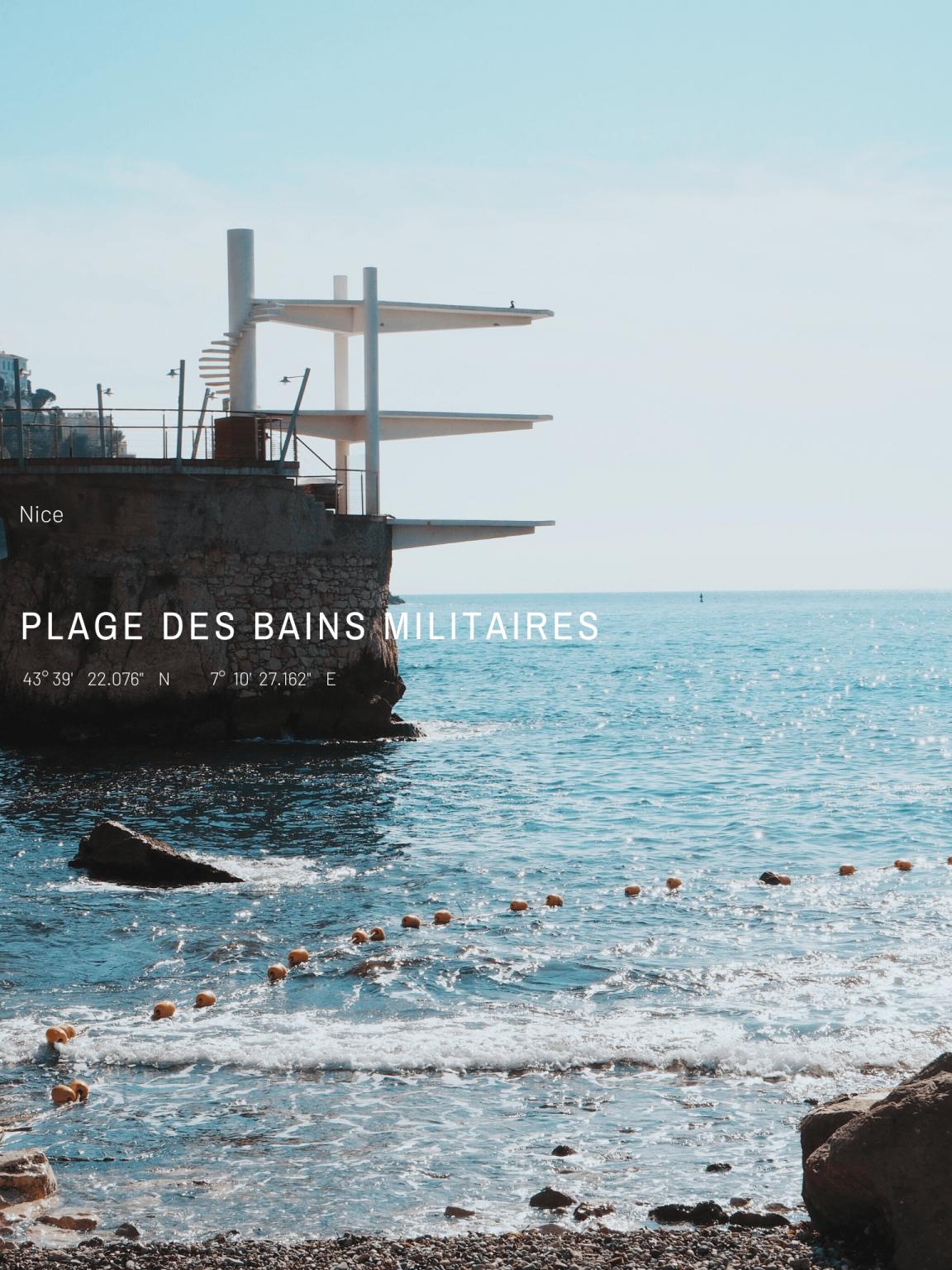 Plage des bains militaires   Nice